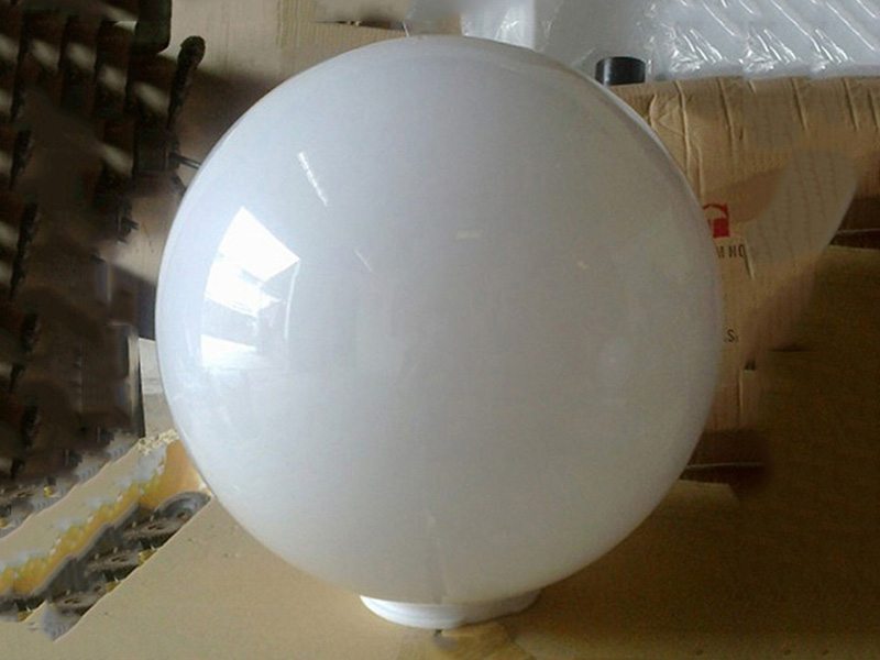 Milk white ball acrylic lampshade factory